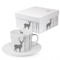 Kaffee Tassen - Mystic Deer real silver