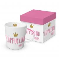 Porzellan-Henkelbecher - Cappuccino Queen
