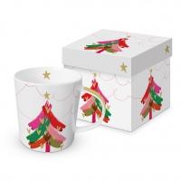 Porzellan-Henkelbecher - Warm Christmas