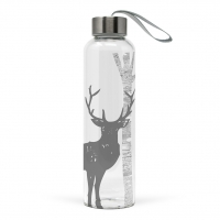 Glasflasche -  Mystic Deer real silver