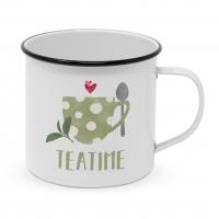 Metal Cup - Tea Time