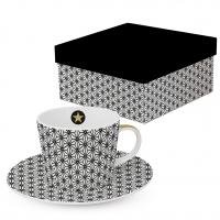 Kaffee Tassen - Ginza black real gold