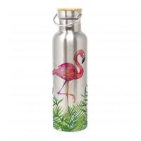 Edelstahl Trinkflasche - Bottle Tropical Flamingo