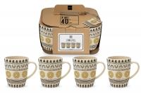 Bambus Becher - Mug Set 4 Bamboo Ethno Style