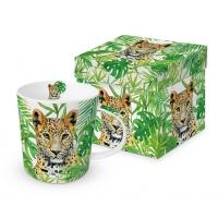Porzellan-Henkelbecher - Leopard