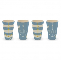 Bambus Becher - Tumbler Beach Set of 4