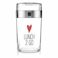 Snack 2Go Glas - Lunch 2 Go