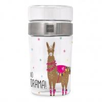 Snack 2Go Glas - Drama Llama