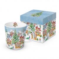 Porzellan-Henkelbecher - Christmas Market Trend GB