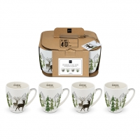 Porzellan-Henkelbecher - Adventure 4 Mug Set