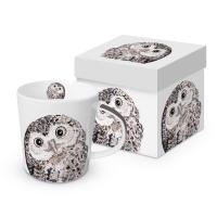 Porzellan-Henkelbecher - Owl Trend GB