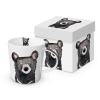 Porzellan-Henkelbecher - Bear Trend GB