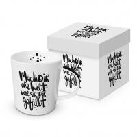 Porzellan-Henkelbecher - Mach dir die Welt Trend GB