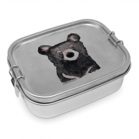 Edelstahl Brotdose - Bear Steel Lunch Box
