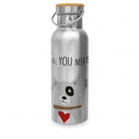 Edelstahl Trinkflasche - Love and Dog