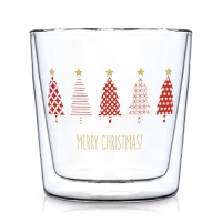 Doppelwand Glas 0,3 L - Tree Parade Trendglas DW