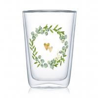 Doppelwand Glas 0,4 L - Two Hearts Latte MacchiatoDW