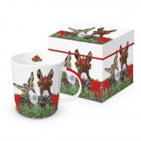 Porzellan-Henkelbecher - PB & J Holiday Trend GB