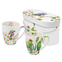 Porzellan-Henkelbecher - Bali & Sri Lanka 2 Mug Set