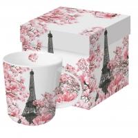 Porzellan-Henkelbecher - April in Paris Trend
