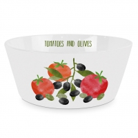 Porzellan Schale - Tomatoes & Olives Trend Bowl