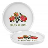 Porzellan-Teller 21cm - Tomatoes & Olives Trend Plate 21