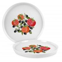 Porzellan-Teller 27cm - Tomatoes & Olives Trend Plate 27