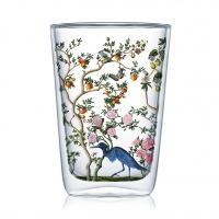 Doppelwand Glas 0,4 L - Bird Chinoiserie Latte MacchiatoDW