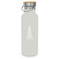Edelstahl Trinkflasche - Pure Mood taupe