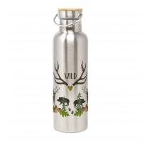 Edelstahl Trinkflasche - Wild