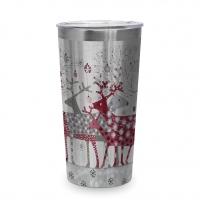 Edelstahl Travel Mug - Scandic Christmas 0,43