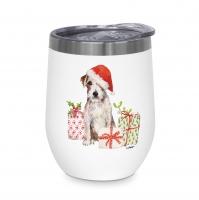 Edelstahl Thermo Mug - Christmas Pup