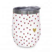 Edelstahl Thermo Mug - Little Hearts