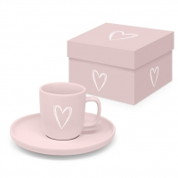 Espresso Tassen - Pure Heart Rosé Matte Espresso