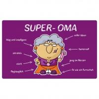 Frühstücks-Brettchen - Tablett Super-Oma