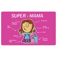 Frühstücks-Brettchen - Tablett Super-Mama