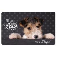 Frühstücks-Brettchen - Tablett Love und ein Hund
