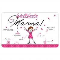 Frühstücks-Brettchen - Tablett Weltbeste Mama