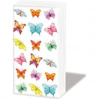 Taschentücher - Schmetterlingscollage