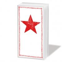 Taschentücher Star Fashion red