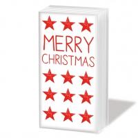 Taschentücher Merry Christmas Star red
