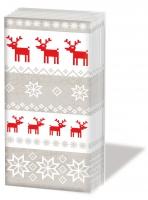 Taschentücher Magic Christmas taupe