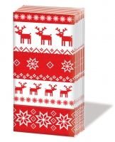 Taschentücher Magic Christmas red