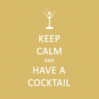 Servietten 25x25 cm - Keep Calm... Cocktail 25x25 cm