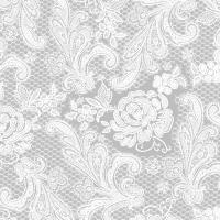 Servietten 33x33 cm - Lace Royal silver white