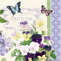 Servietten 33x33 cm - Vintage Violetscm