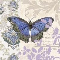 Servietten 33x33 cm - Vintage Papillon
