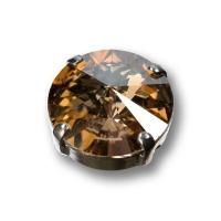 Swarovski Rivoli Steine 6 Steine im 4-Loch Kessel