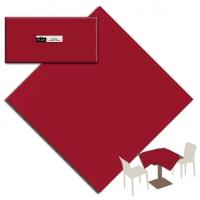 25 Tischdecken 100x100 cm UNICOLOR Bordeaux