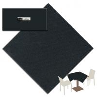 25 Tischdecken 100x100 cm UNICOLOR Nero